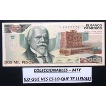 Billete De 2,000 Pesos De Justo Sierra (calidad Sin Circular