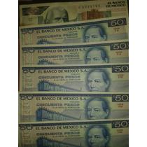 Billetes De 50 Pesos De Juarez Y Uno De 2000 Pesos De Sierra