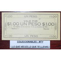 Billete De 1 Peso De Michoacan (galvz Toscano) Revolucion ,