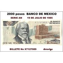 2000 Pesos Banco De México Justo Sierra
