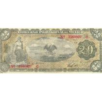 Papel Moneda 20 Pesos 1914 Revolucion Sv9