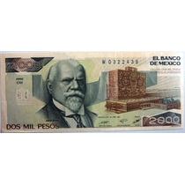 Billete De $2000 Justo Sierra
