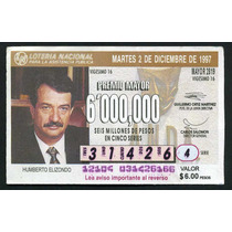 Billete De Loteria Humberto Elizondo