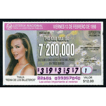Billete De Loteria Thalia