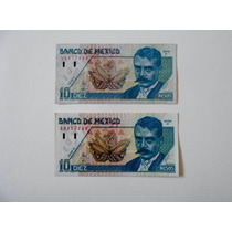 Billetes De Diez Pesos Con Zapata.