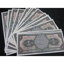 Billetes 1 Un Peso Calendario Azteca Nuevo Sin Circular