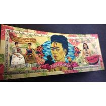 Billete Plástico De Colección ! Frida Kahlo - Original Nuevo