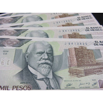 Billetes 2000 Pesos Justo Sierra Nuevo Sin Circular Crisp