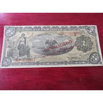 Billete Un Peso Gobierno Provicional De Mexico 1914