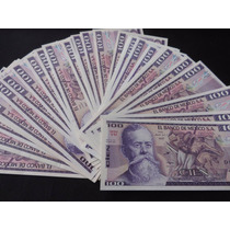 Billete 100 Pesos Carranza Y Chac Mool Nuevo De Coleccion