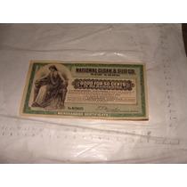 Billete O Vale De 50 Cents , Año 1912 , National Cloak & Sui