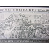 Billete Cuba 1 Un Peso 1986 Entrada A La Habana De 1959