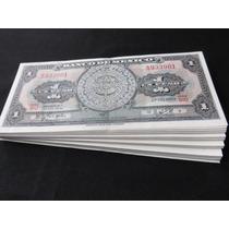 Billetes 1 Un Peso Calendario Azteca Fajilla 100 Billetes