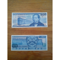 Lote De 7 Billetes Antiguos 50 Pesos Benito Juarez
