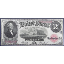 Billete Usa $2.00 Dolar Tipo Ancho Escaso