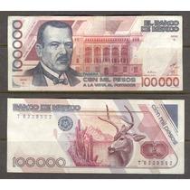 Billete De 100,000.00 De Plutarco Elías Calles