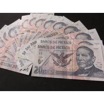 Billete 20 Pesos Juarez Polimero A Granel Oferta