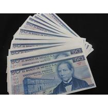 Billetes 50 Pesos Juarez Año 1981 Lote De 25 Billetes