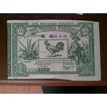Boleto Billete Rifa Lotería Tómbola Zoológica México 1890
