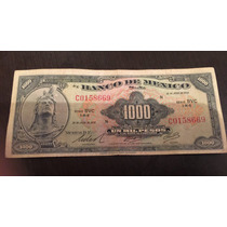 Billete Antiguo 1000 Pesos Cuauhtémoc 1977