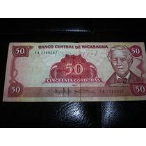 Billete Nicaragua 1985 50 Cordobas Mn4