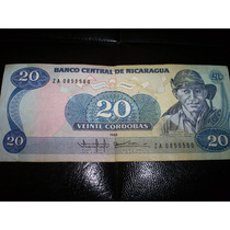 Billete Nicaragua 1985 20 Cordobas