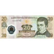 Grr-billete De Honduras 20 Lempiras 2008 - Plástico