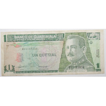 Billete Guatemalteco De 1 Quetzal En Papel