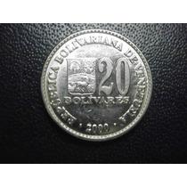 Venezuela 20 Bolivares Fecha 2000 Niquel 19mm