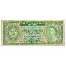 Billete Belice 1 Dolar (1976) Reina Elizabeth Il
