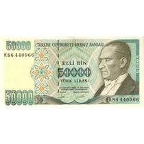 Grr-billete De Turquía 50,000 Liras Turcas 1970-1995