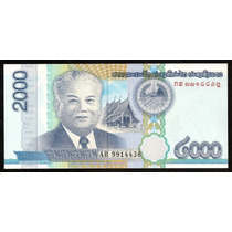 Grr-billete De Laos 2000 Kip 2011