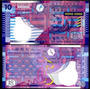Hong Kong 10 Dólares 2003 Unc
