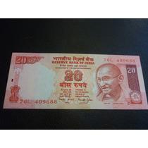 Billete De India 20 Rupees ( Gandhi)