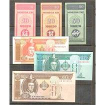 Colección De 6 Billetes De Mongolia