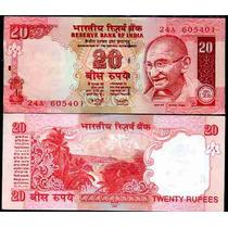 India 20 Rupees Caratula De Ghandi Fn4
