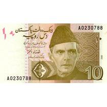 Grr-billete De Paquistán 10 Rupees 2006