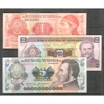 Coleccion De 3 Billetes De Honduras