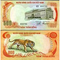 Vietnam 500 Dong Tigre De Bengala Omm
