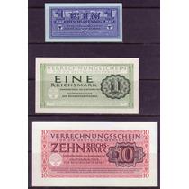 Colección 3 Billetes De Alemania Militar