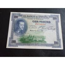 Billete De España 1925 100 Pesetas