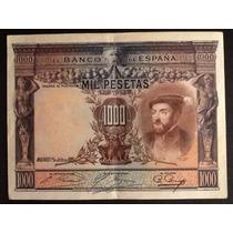 Billete Antiguo Mil Pesetas Del Año 1925. España