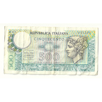Billete Italia 500 Liras (1974) Mercurio Lqe