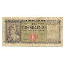 Billete 500 Liras (1947) Italia Lqe