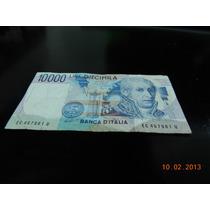 Billete De Italia De 10000 Liras Pre Euro