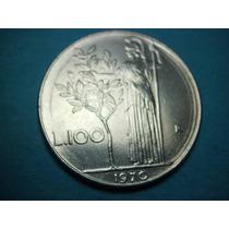 Italia 100 Liras Fecha 1970 Niquel