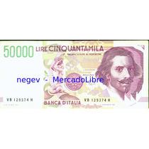 Billete Italia 50000 Liras P.#116 1992 Bernini/fuente Triton