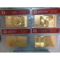 Super Ganga, Billetes De Oro 24 K Con Certificado