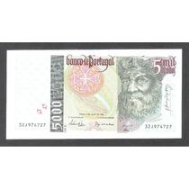 Billete De Portugal De 5,000 Escudos De 1998 Nuevo Unc