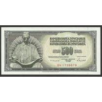 Grr-billete De Yugoslavia 500 Dinara 1986 - Nikola Tesla
